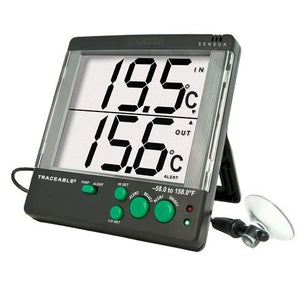 Thermometer -50 to 70°C Digital, Big Digit, 4-Alarm