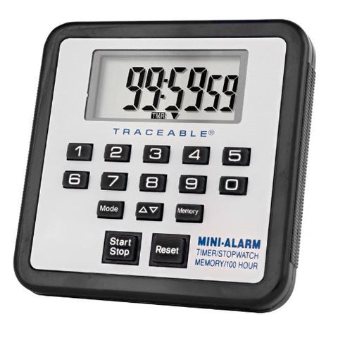 100 Hour, Traceable, Digital Mini Alarm Timer
