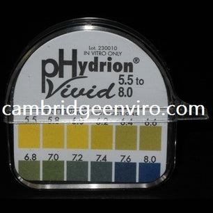 pH Test Paper - 5.5 to 8.0 pH Range