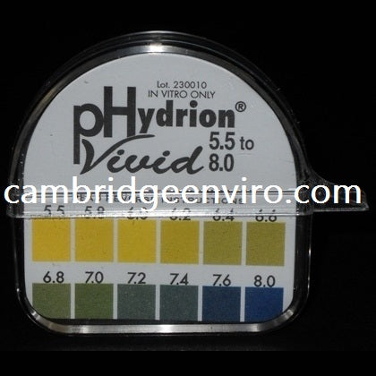 5.5 to 8.0 pH Range, Single Roll, pH Test Paper