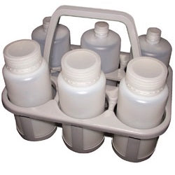 6 Place White Bottle Carrier
