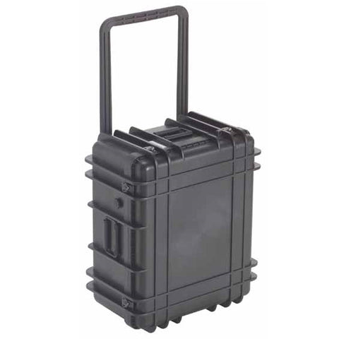 Black, Injection Molded, Dry, Reinforced Sealed Carrying Case