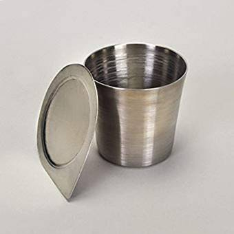 15ml Stainless Steel  Crucible - High Form with Lid | Cambridge Environmental