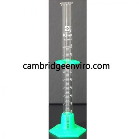 Graduated Glass Cylinder with Removable Plastic Base and Guard