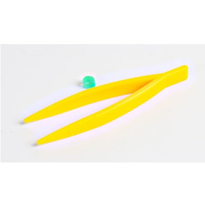 102mm Length, Yellow, Pointed, Plastic Forceps