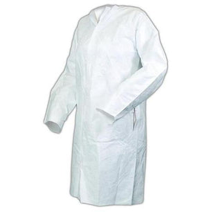 Unisex Tyvek Lab Coat - 3 Pockets