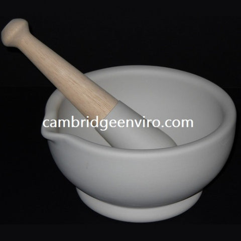 wedgewood procelain mortar with wood and porcelain pestle