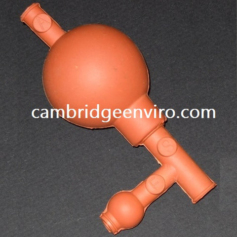 Pipette Bulb (Pipette Filler), 100% Rubber Red
