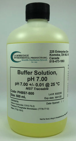 Buffer Solution pH 7.00 Yellow 500ml Bottle