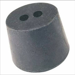 2 Hole Black Rubber Stopper