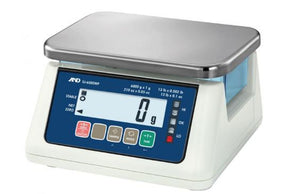 A&D SJ-3000WP - 3kg x 0.1g Washdown Bench Scales