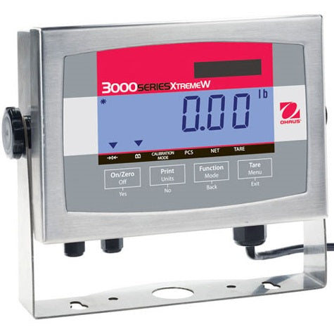 OHAUS T32XW 3000 Series Weighing Scale Indicator NEMA4X/IP65 washdown stainless steel housing, LED display
