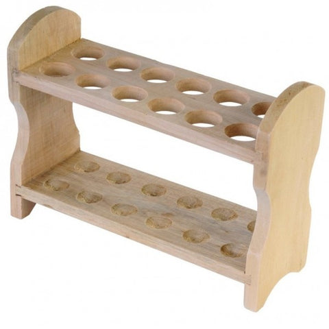 12 Place Wooden Test Tube Rack