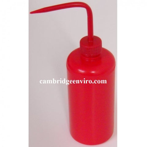 500ml Red LDPE Narrow Mouth Wash Bottle