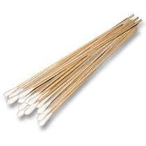 150mm Length, Wood Applicators with Cotton Tips, Sterile, Bag of 1000 Sticks