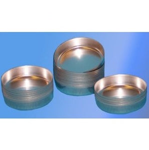 70mm Diameter Smooth Walled Aluminium Moisture Dish - 100 Dishes