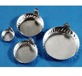 60ml Heavy Aluminium Foil Moisture Dishes with Tabs 57mm Diameter - 100 Dishes
