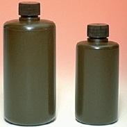 1L Narrow Mouth Amber HDPE Bottle