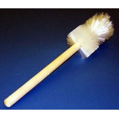 "12"" Heavy Tufted End White Nylon Beaker Brush 
