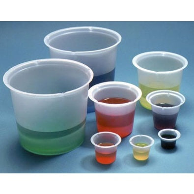 800ml Capacity, Disposable Polystyrene Beakers, 100 Beakers