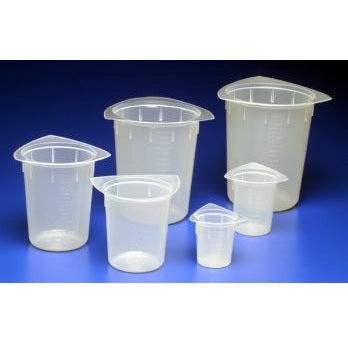 800ml Capacity, Tri-Pour Disposable Beakers, 100 Beakers