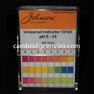 Universal pH Indicator Strips - 0-14 pH