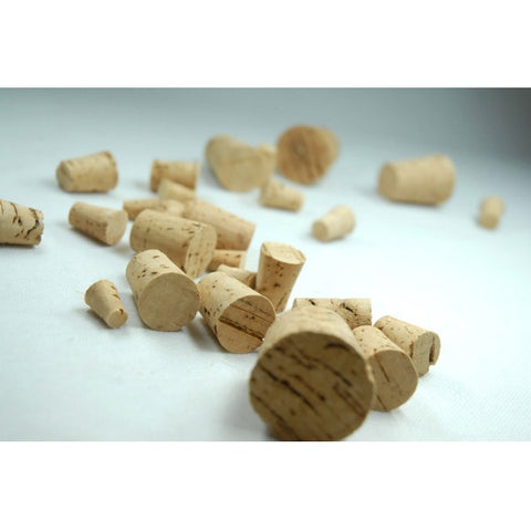 Cork Stoppers Assorted Sizes, Size #0 to #11 Lab Grade Pk/100