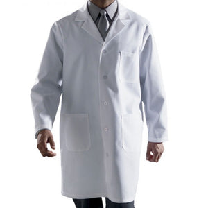 Extra Large, Dacron/Cotton, Knee Length, 3 Large Patch Pockets, White Lab Coat