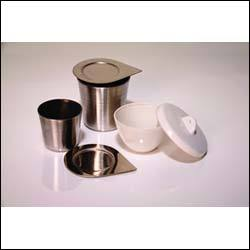 High Form Stainless Steel Crucible with Lid