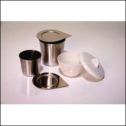 50ml Capacity, High Form, Stainless Steel Crucible