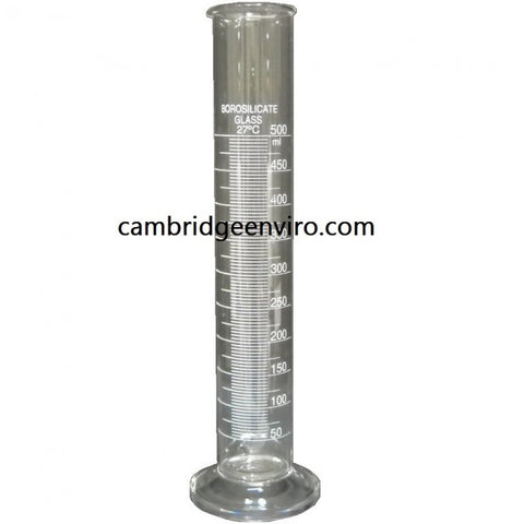 500ml Glass Cylinder, Graduated Single Scale - Round Base | Cambridge Environmental