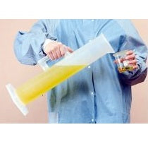 1000ml Capacity, Polypropylene, Plastic Cylinder with Handle