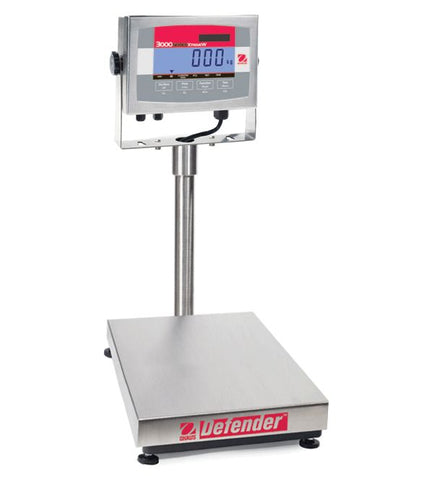 Ohaus Defender 3000 Xtreme - 60kg x 20g - Washdown Bench Scale | Legal for Trade Canada