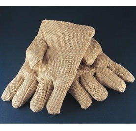 "Heat Resistant Zetex Gloves - 11"" Length, Fleece Lined & Thermal Insulated"