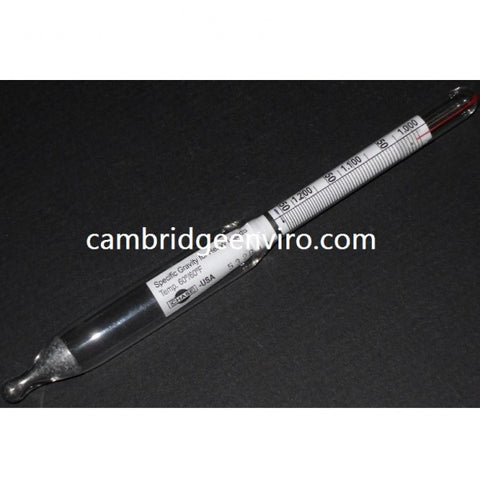 1.000-1.225 Specific Gravity Glass Hydrometer
