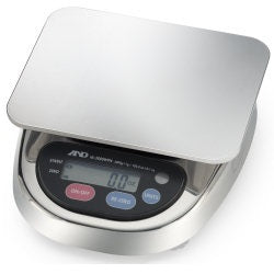 A&D HL-3000LWP - 3000g x 1.0g Washdown Compact Scale  2 Year Warranty