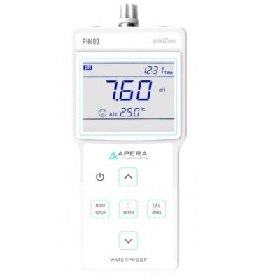 Portable pH Meter  ±0.01 pH, Auto Temp. Compensation (0 to 80°C), ORP (mv), pH, Temperature