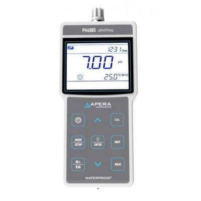 Portable pH Meter with GLP Data Management and USB Output