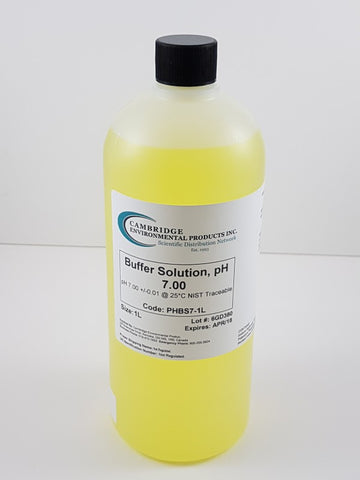 Buffer Solution pH 7.00 Yellow 1L Bottle
