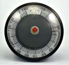 30 to 180°C Surface Thermometer, Fully Enclosed, Bi-Metal Dial