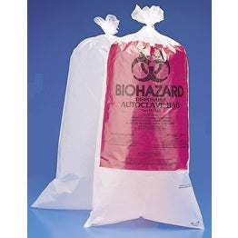 "23 x 24"", Red Biohazard Bags, 200 Bags"