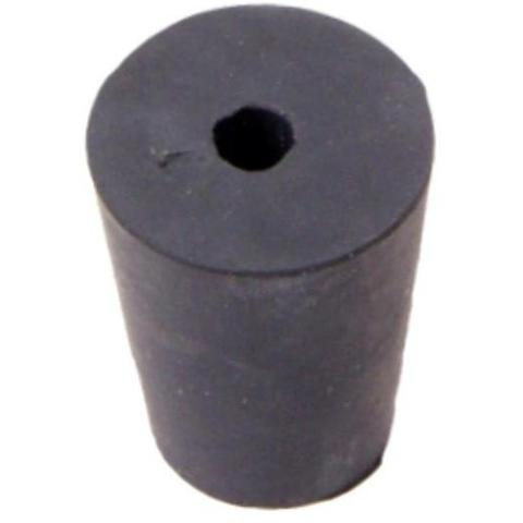 1 Hole Black Rubber Stopper