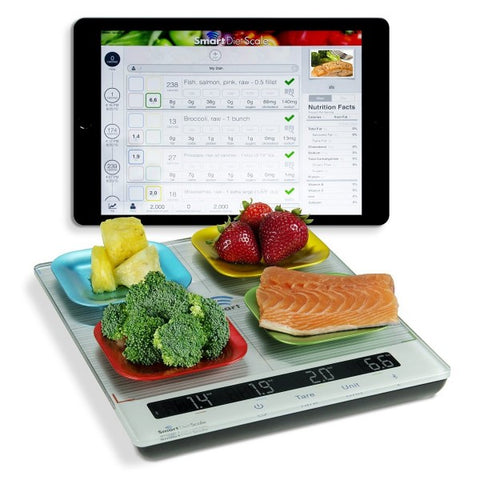 Smart Diet Scale 4 place weighing surface for your nutrional and dietary goals