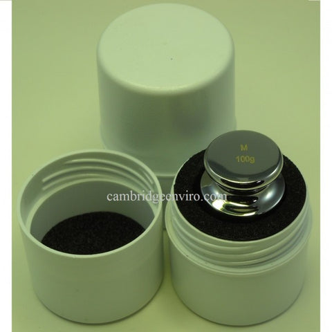 100g Calibration Weight - Stainless Steel | Cambridge Environmental