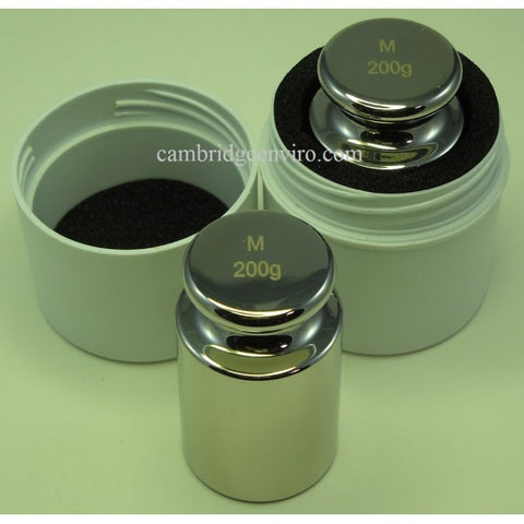 200g Calibration Weight - Stainless Steel | Cambridge Environmental