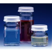40ml Capacity Vials with Polyethylene Snap Cap, 72 Vials