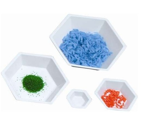 20ml Capacity, Small Hexagonal Weigh Dish, 500 Dishes