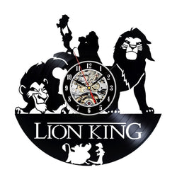The Lion King Vinyl Record Wall Clock - Decorate your home with Modern Large Art - Gift for kids, girls and boys - Win a