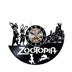 Zootopia Vinyl Record Wall Clock - Decorate your home with Modern Large Art - Gift for kids, girls and boys - Win a prize for a