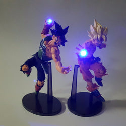 Dragon Ball Z Action Figures Son Goku Burdock Kamehameha Led Light 150mm Anime Dragon Ball Super Saiyan DBZ